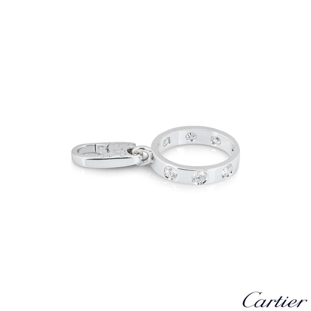 Cartier White Gold Diamond Love Charm